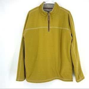 TRUE GRIT Mustard Fleece Quarter Zip Men's Sweater